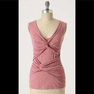 Anthropologie Deletta Ambling Twists pink rise top